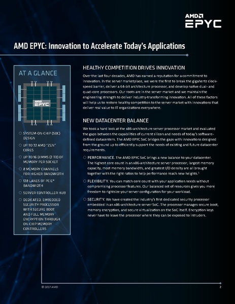 AMD Epyc: Innovation to Accelerate Today's Applications