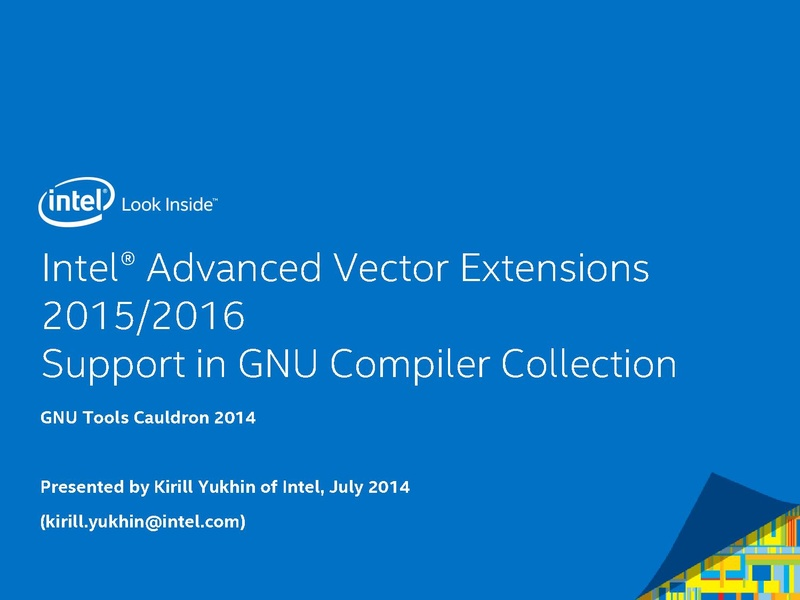 File Intel Advanced Vector Extensions 2015 2016 Support In