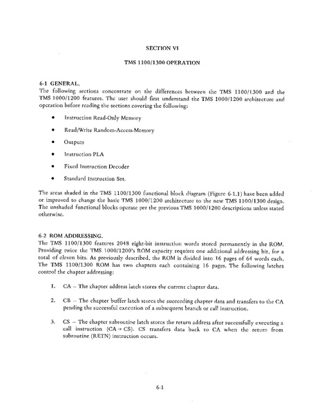 File:TMS1000 Series Programmer's reference manual.pdf - WikiChip